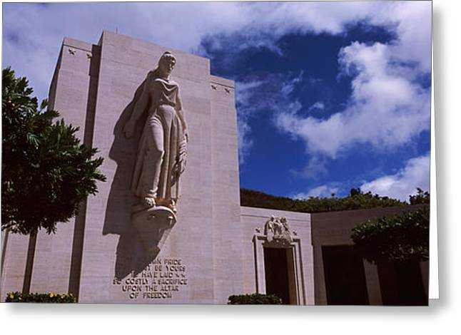 National Memorial Greeting Cards - Low Angle View Of A Statue, National Greeting Card by Panoramic Images