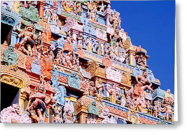 Sculpture Indians Greeting Cards - Low Angle View Of A Temple Greeting Card by Panoramic Images
