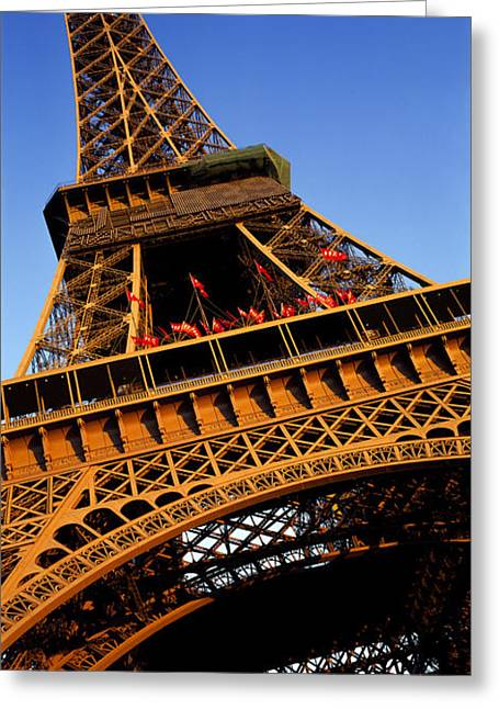Mediterranean Series Greeting Cards - Low Angle View Of A Tower, Eiffel Greeting Card by Panoramic Images