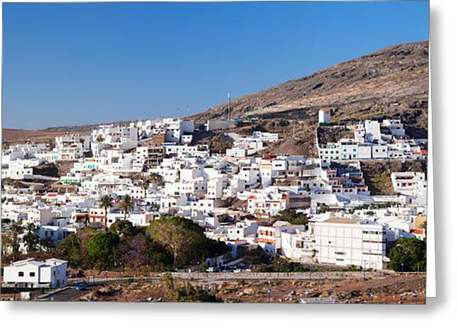 Gran Greeting Cards - Low Angle View Of A Town, Agaete, Gran Greeting Card by Panoramic Images