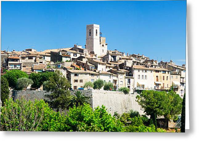 Vence Greeting Cards - Low Angle View Of A Walled City, Saint Greeting Card by Panoramic Images
