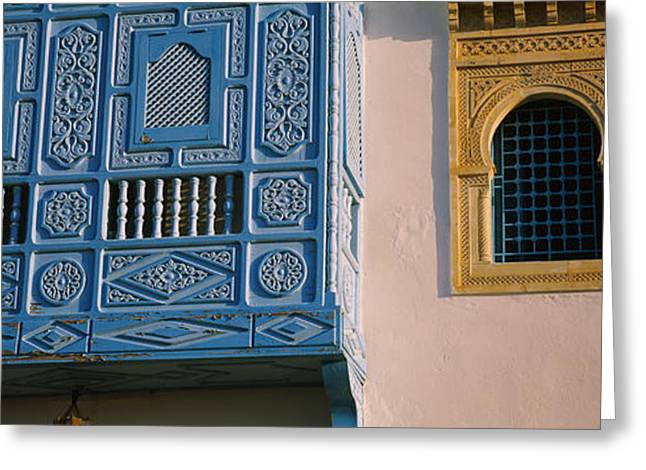 Tunisia Greeting Cards - Low Angle View Of A Window Greeting Card by Panoramic Images
