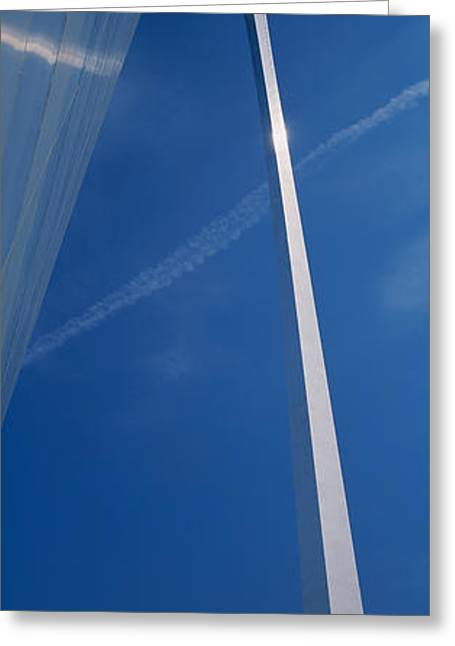 Stainless Steel Greeting Cards - Low Angle View Of An Arched Structure Greeting Card by Panoramic Images