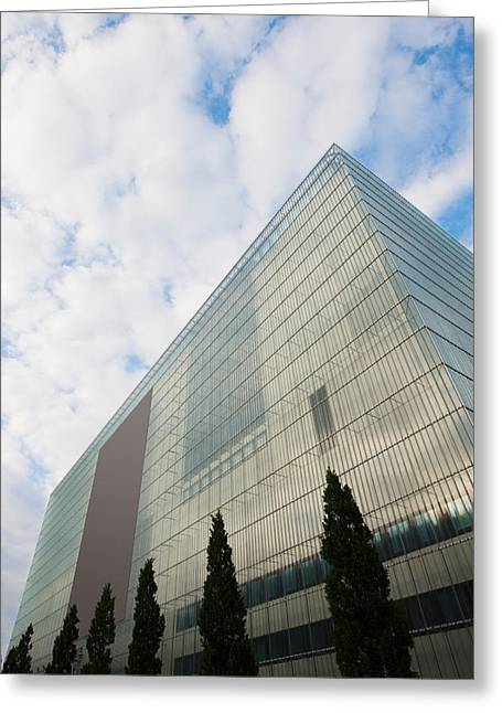 Art Of Building Greeting Cards - Low Angle View Of An Art Museum, Museum Greeting Card by Panoramic Images