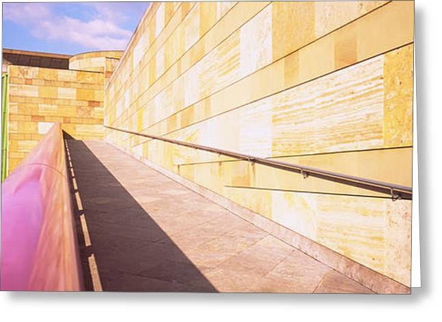 Geometric Image Greeting Cards - Low Angle View Of An Art Museum Greeting Card by Panoramic Images