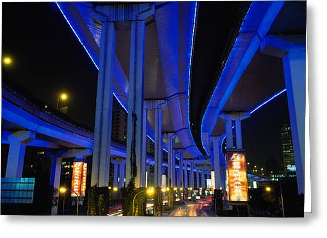 Script Greeting Cards - Low Angle View Of An Overpasses Greeting Card by Panoramic Images