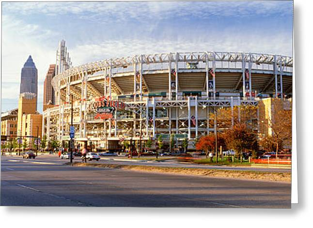 Baseball Stadiums Greeting Cards - Low Angle View Of Baseball Stadium Greeting Card by Panoramic Images