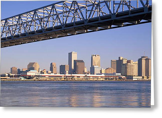 Mississippi River Scene Greeting Cards - Low Angle View Of Bridges Greeting Card by Panoramic Images