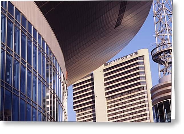 Nashville Panorama Greeting Cards - Low Angle View Of Bridgestone Arena Greeting Card by Panoramic Images