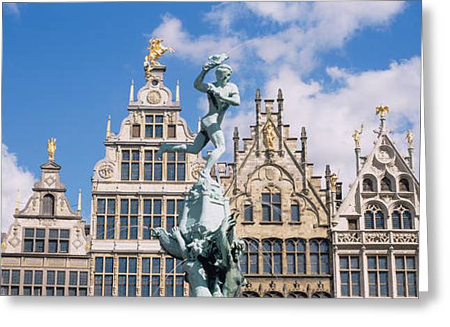 Markt Greeting Cards - Low Angle View Of Buildings, Grote Greeting Card by Panoramic Images