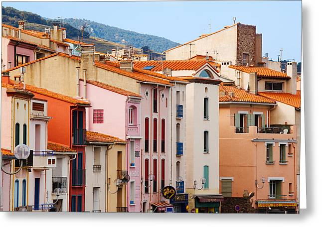 Low Angle View Of Buildings In A Town Greeting Card by Panoramic Images