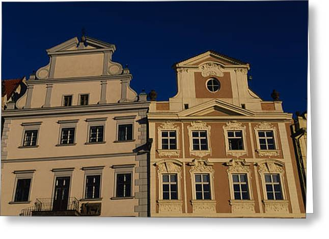 Town Square Greeting Cards - Low Angle View Of Buildings, Prague Old Greeting Card by Panoramic Images