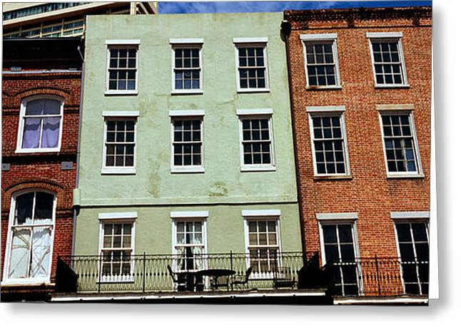 Low Angle View Of Buildings, Riverwalk Greeting Card by Panoramic Images