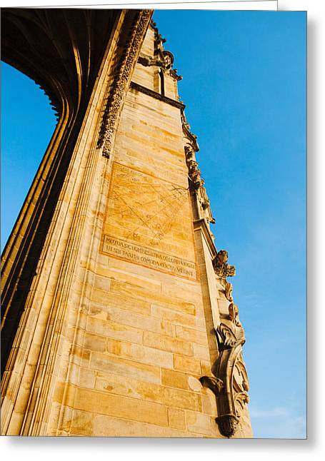 Midi Greeting Cards - Low Angle View Of Cathedrale Greeting Card by Panoramic Images