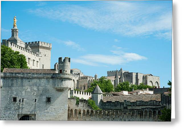 Fortified Wall Greeting Cards - Low Angle View Of City Walls, Pont Greeting Card by Panoramic Images