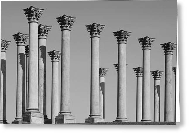 Capitol Greeting Cards - Low Angle View Of Columns, National Greeting Card by Panoramic Images