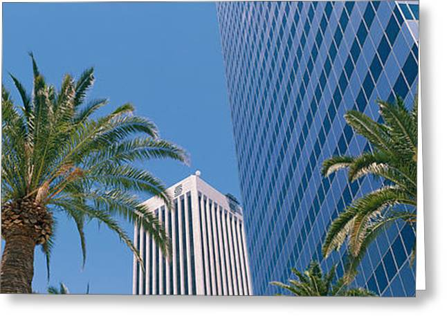 Low Angle View Of Downtown Office Greeting Card by Panoramic Images