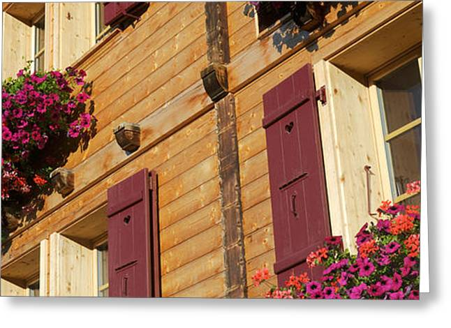 Lauterbrunnen Greeting Cards - Low Angle View Of Guesthouse, Wengen Greeting Card by Panoramic Images