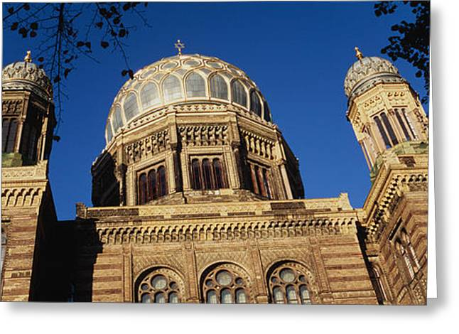 Jewish History Greeting Cards - Low Angle View Of Jewish Synagogue Greeting Card by Panoramic Images