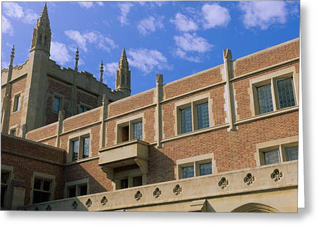 Photography Of Windows Greeting Cards - Low Angle View Of Kerckhoff Hall Greeting Card by Panoramic Images