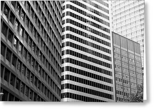 Downtown San Francisco Greeting Cards - Low Angle View Of Office Buildings, San Greeting Card by Panoramic Images