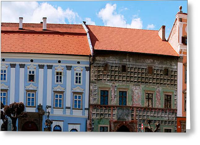 Slovakia Greeting Cards - Low Angle View Of Old Town Houses Greeting Card by Panoramic Images