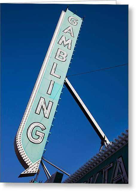 Fremont Street Greeting Cards - Low Angle View Of Sign Of El Cortez Greeting Card by Panoramic Images