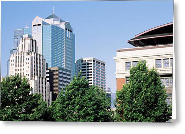 Missouri Photography Greeting Cards - Low Angle View Of Skyline, Kansas City Greeting Card by Panoramic Images
