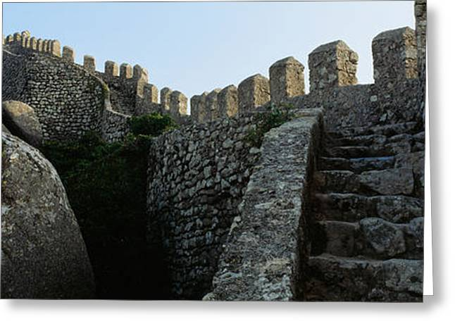 Southern Europe Greeting Cards - Low Angle View Of Staircase Greeting Card by Panoramic Images