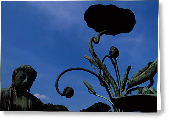 Kamakura Greeting Cards - Low Angle View Of Statue Of Daibutsu Greeting Card by Panoramic Images