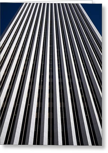 Chicago Loop Greeting Cards - Low Angle View Of The Aon Center Greeting Card by Panoramic Images