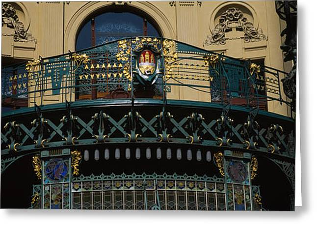 Art Nouveau Photographs Greeting Cards - Low Angle View Of The Balcony Greeting Card by Panoramic Images