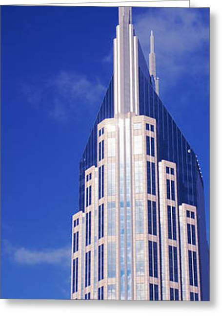 Nashville Tennessee Greeting Cards - Low Angle View Of The Bellsouth Greeting Card by Panoramic Images