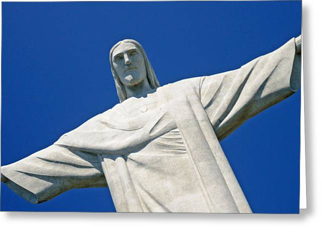 Redeemer Greeting Cards - Low Angle View Of The Christ The Greeting Card by Panoramic Images
