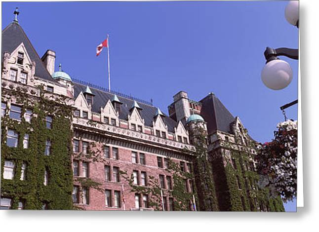 Low Angle View Of The Empress Hotel Greeting Card by Panoramic Images