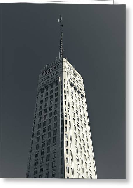 Low Angle View Of The Foshay Tower Greeting Card by Panoramic Images