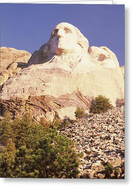 Mount Rushmore Greeting Cards - Low Angle View Of The Mt Rushmore Greeting Card by Panoramic Images