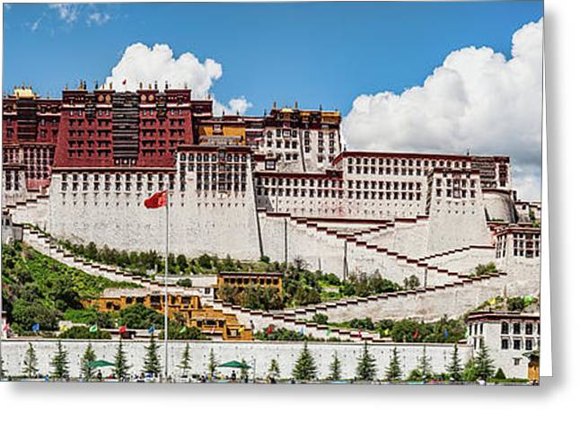 Low Angle View Of The Potala Palace Greeting Card by Panoramic Images