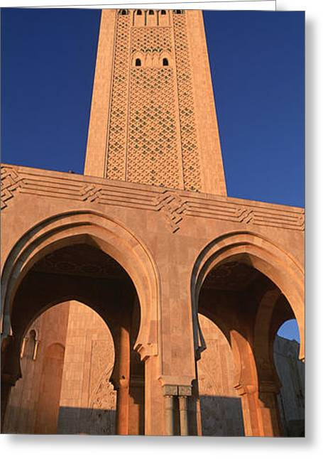 Casablanca Greeting Cards - Low Angle View Of The Tower Greeting Card by Panoramic Images