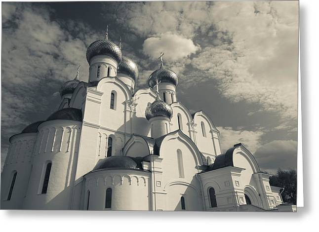 Russian Cross Greeting Cards - Low Angle View Of The Uspenski Greeting Card by Panoramic Images