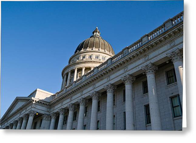 Capitol Hill Greeting Cards - Low Angle View Of The Utah State Greeting Card by Panoramic Images