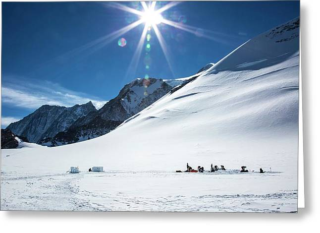 Low Camp On Mt Vinson Antarctica Greeting Card by Peter J. Raymond