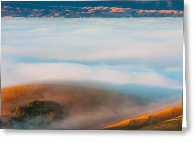 Livermore Greeting Cards - Low Clouds Over Livermore Valley Greeting Card by Marc Crumpler