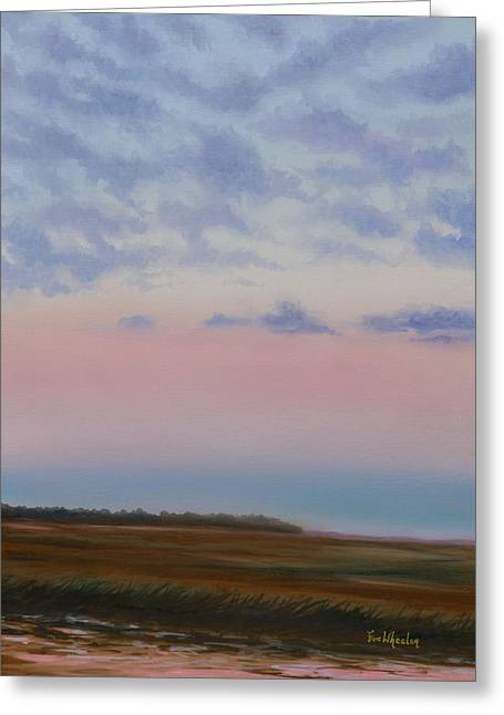 Eve Wheeler Greeting Cards - Low Country Clouds Greeting Card by Eve  Wheeler