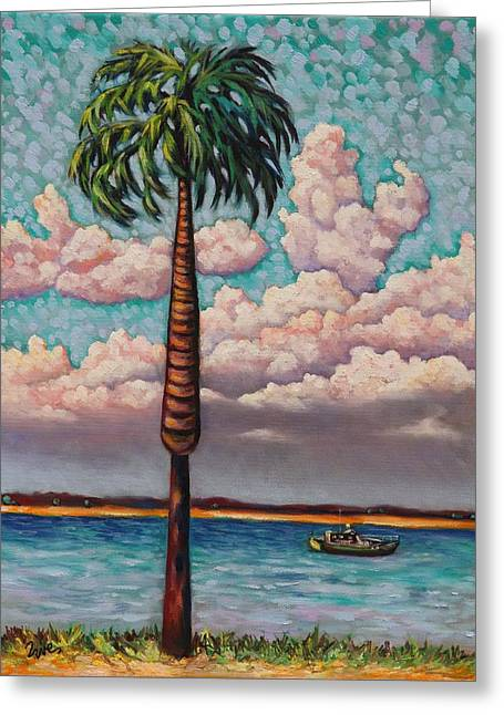 Eve Wheeler Greeting Cards - Low Country Palm Greeting Card by Eve  Wheeler