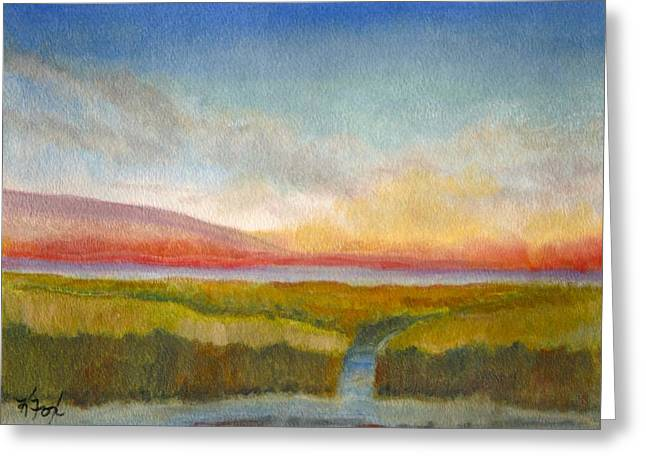 Charleston Pastels Greeting Cards - Low Country Rising Greeting Card by Kathelen Weinberg