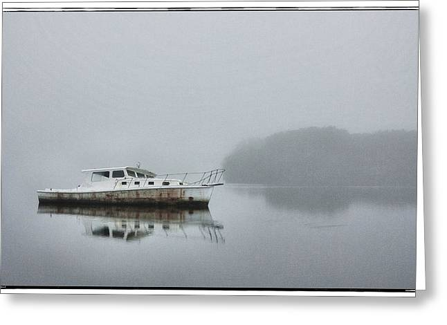 Cedar Key Greeting Cards - Low Key Misty Morning Greeting Card by Jurgen Lorenzen