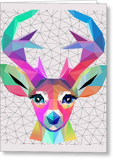 Low Poly Art Greeting Card by Mark Ashkenazi