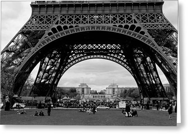 Low Section Greeting Cards - Low Section View Of A Tower, Eiffel Greeting Card by Panoramic Images