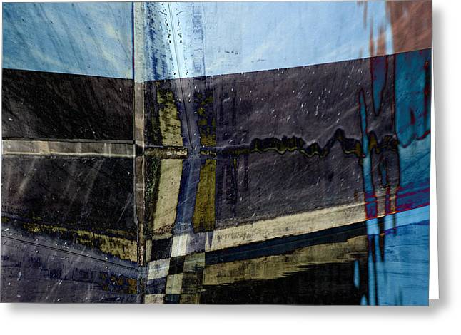 Abstract Squares Greeting Cards - Low Tide 4 Greeting Card by Carol Leigh